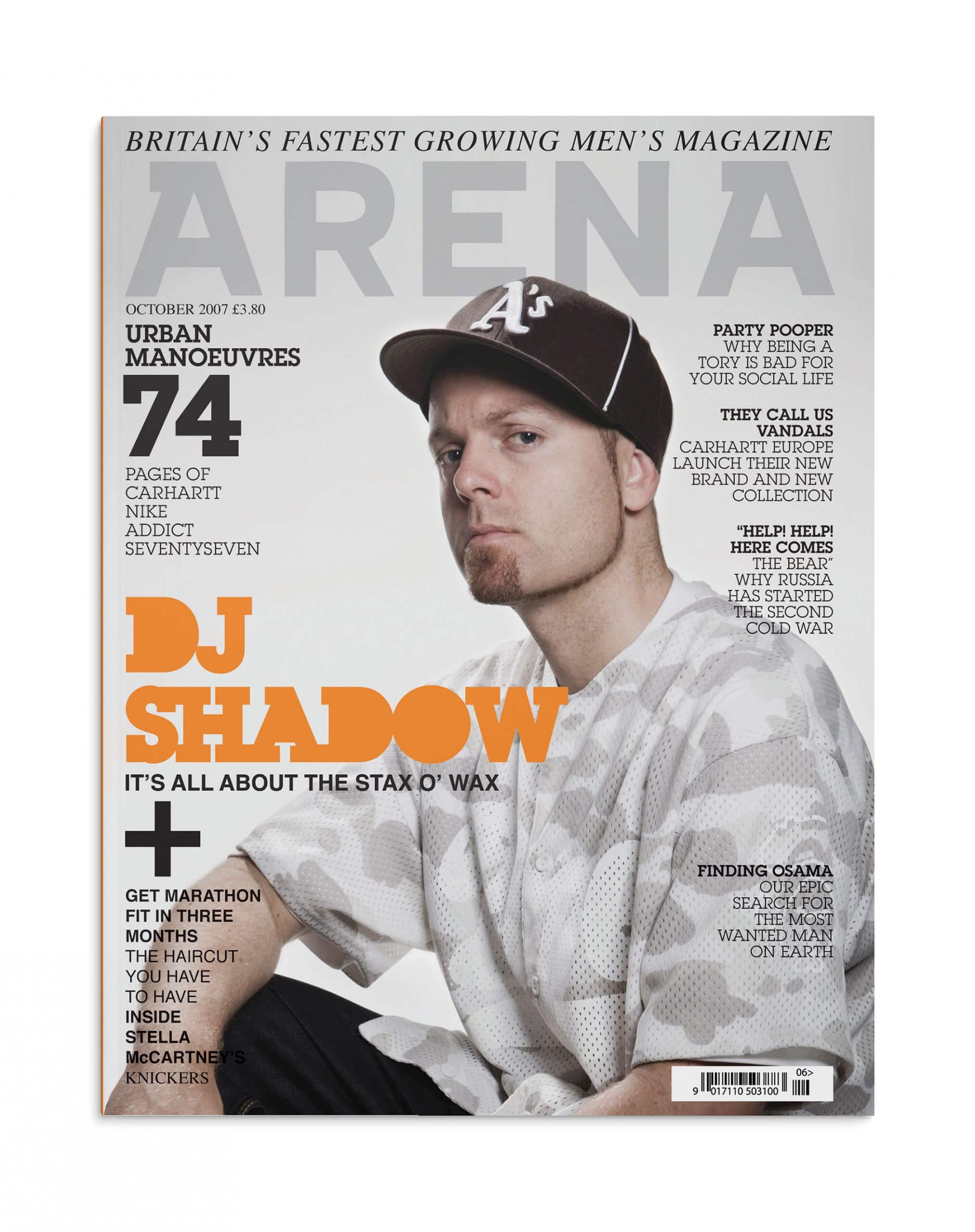 ARENA Magazine - DJ Shadow cover