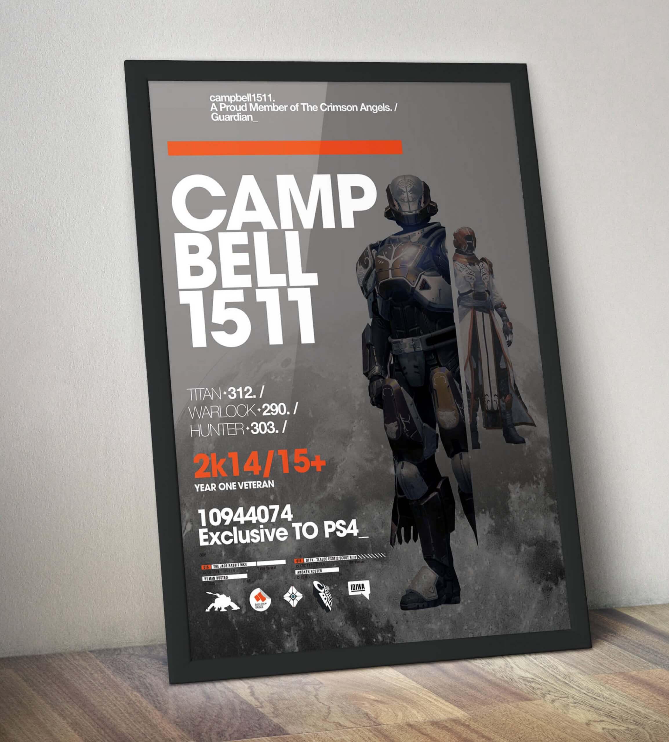 Destiny poster framed